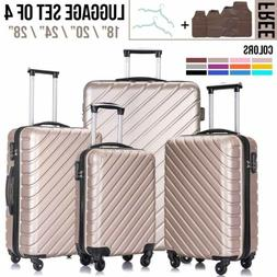 3/4/5Pcs Travel Luggage Set Bag Trolley Spinner Suitcase ABS
