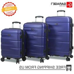 Dejuno 3 Pcs Luggage Travel Set Bag ABS Spinner Suitcase Loc