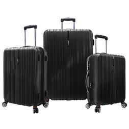 3 Piece 100% Polycarbonate Luggage Set Suitcase Spinner Hard