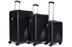 Ornate 3 Piece Luggage Set with Spinner Wheels - Hardside Ex