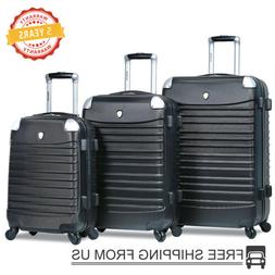 Dejuno 3 Piece Luggage Sets Spinner Wheels Lightweight Expan