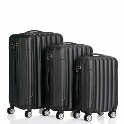 3 Pieces Travel Spinner Luggage Set Bag ABS Trolley Carry On