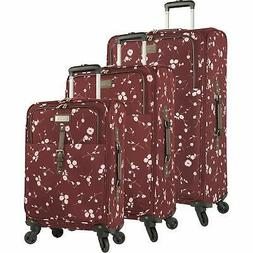 Chaps 4 Piece Luggage Spinner and Tote Set Patchwork