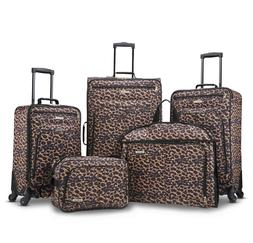5 Piece Luggage Set Carry On With Spinner Wheels Women Softs