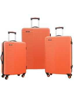 Travelers Club Basette Coral 3 piece Luggage Set Hard Sided