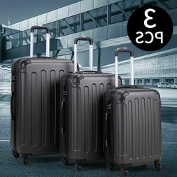 """Set of 3 Piece Luggage 20"""" 24"""" 28"""" Suitcase Travel Bag with"""