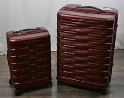 Hartmann Excelsior Red 2-pc Spinner Suitcase Luggage Set Har