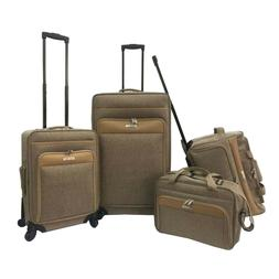 forecast montreal 4 piece luggage set brown