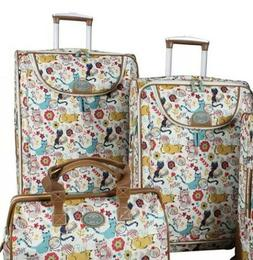 LILY BLOOM FURRY FRIENDS LUGGAGE SET 2 PIECE COLLECTION SPIN