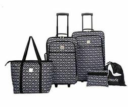Modern. Southern. Home. Ikat 5 Piece Luggage Set. Ready to S