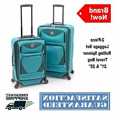 2-pc Expandable Spinner Luggage Case Travel
