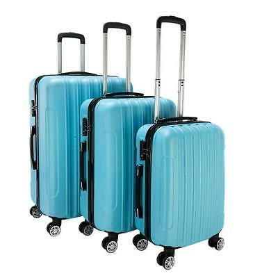 3 piece luggage set hardside abs carry