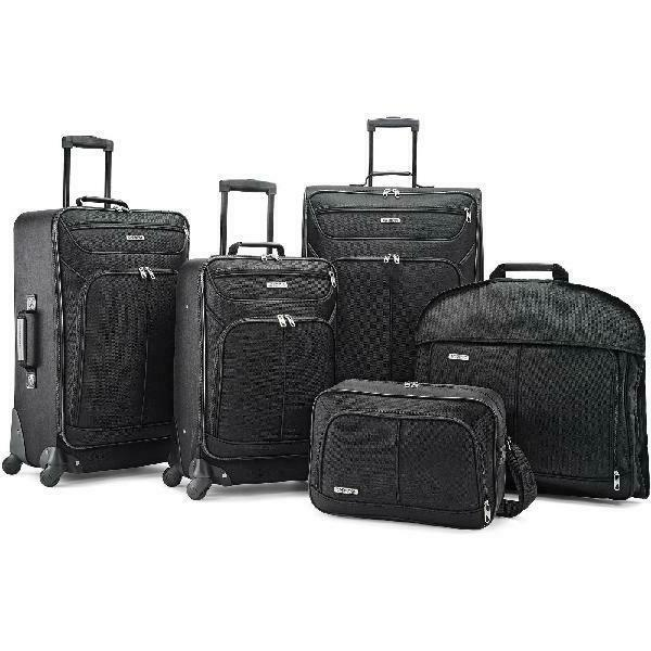 5 piece luggage set suitcase carry on