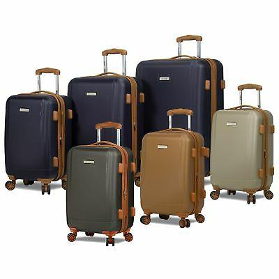 deluxe collection lightweight 3 piece spinner luggage