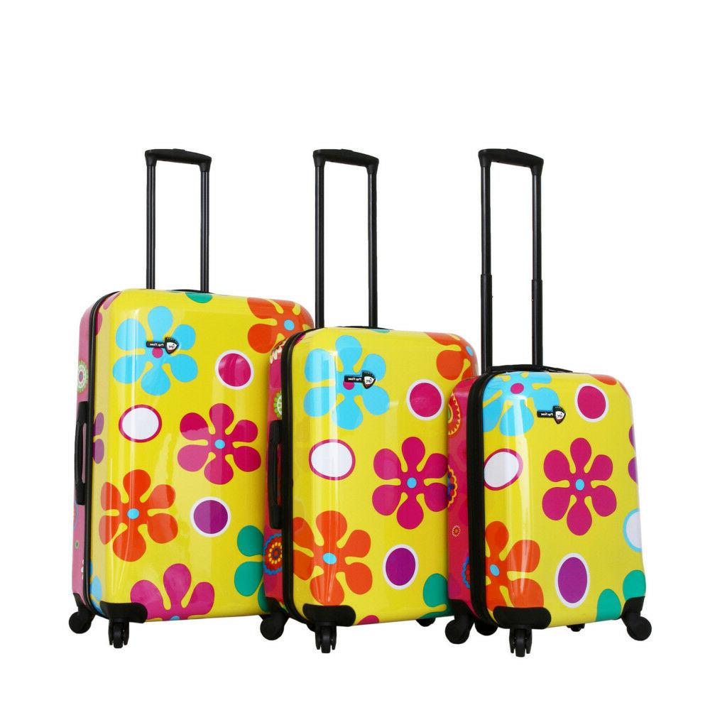 italy pop fiore spinner luggage 3pc set