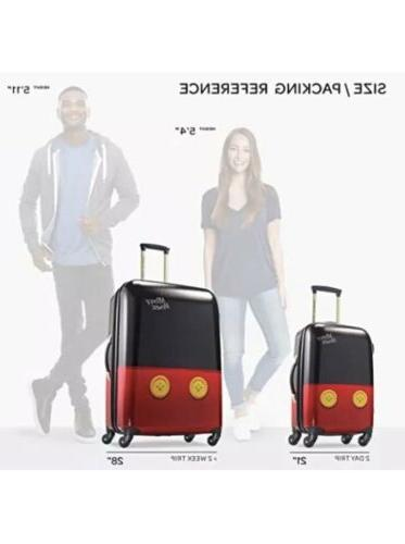 """Mickey Pants 2 Piece Spinner Luggage 28"""" Set"""