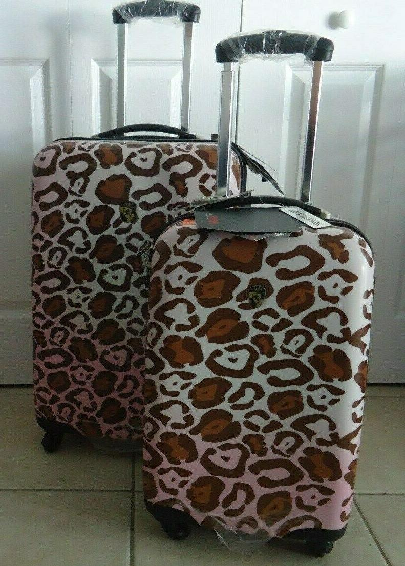 new set x 2 suitcase spinner 26