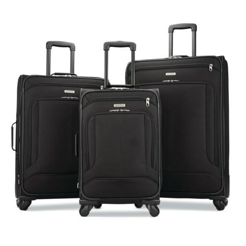 pop max 3 piece luggage spinner set