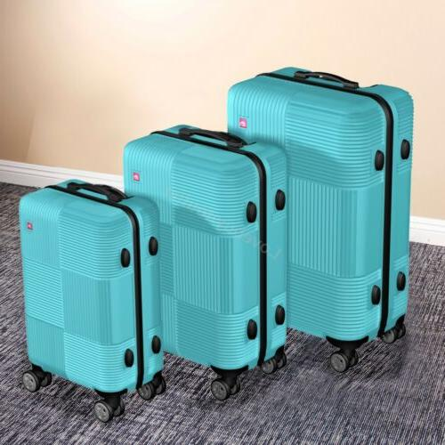 Set Luggage ABS Trolley Suitcase 360° Lock