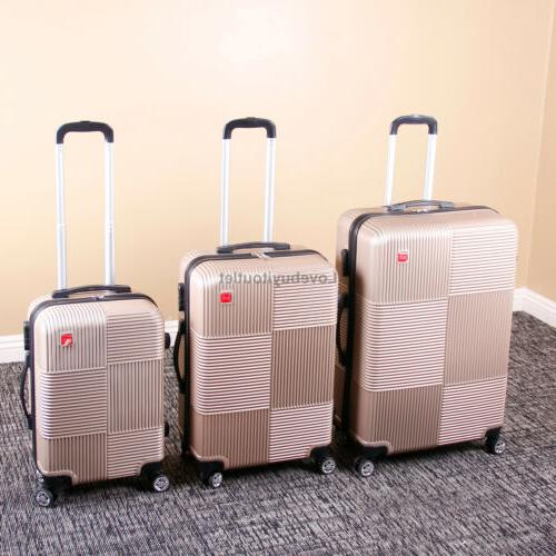 Set Luggage ABS Suitcase 360° Spinner Lock