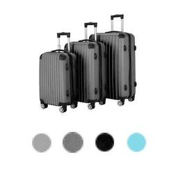 Luggage Travel Set Bag ABS Trolley 360° Spinner Carry On Su