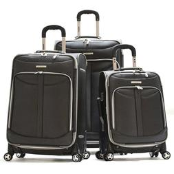 Olympia Luggage Tuscany 3 Piece Spinner Expandable Luggage S