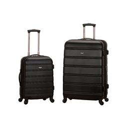 Rockland Melbourne Expandable 2-Piece Hardside Spinner Lugga