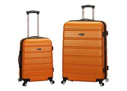 Rockland Luggage Melbourne 2 Pc Expandable ABS Spinner Lugga