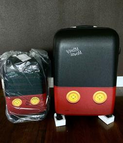 mickey mouse pants 2 piece spinner luggage