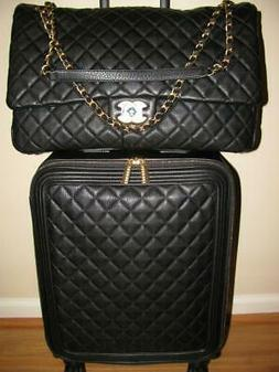 "✅ NEW CHANEL 2 PIECE SPINNER ""CARRY ON"" LUGGAGE SET ""SOLD"