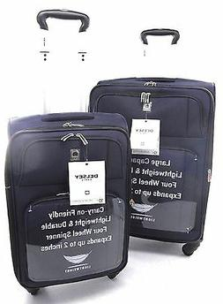 """NEW Delsey Optica Luggage  25"""" & 21"""" Expandable Spinner Trol"""