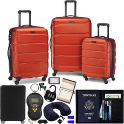 Samsonite Omni Hardside Luggage Spinner Set, Burnt Orange w/