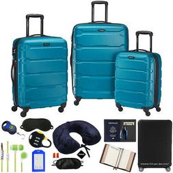 Samsonite Omni Hardside Luggage Spinner Set, Caribbean Blue