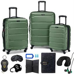 Samsonite Omni Hardside Nested Luggage Set,Army Green w/ 10p