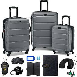 Samsonite Omni Hardside Nested Luggage Spinner Set,Charcoal