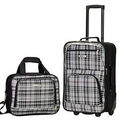 Rockland Rio Upright Carry-On & Tote 2-Piece Luggage Set - B