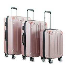 Rose Gold Expandable Spinner 3-Piece Luggage Set NOW $239.99