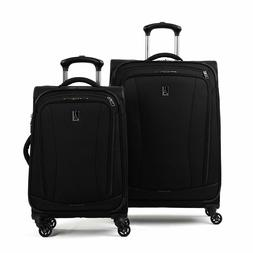 """Travelpro TourGo 20"""" and 25"""" Softside Spinner Luggage Set Bl"""