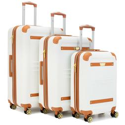 19V69 ITALIA Vintage Expandable Retro Spinner Luggage Set